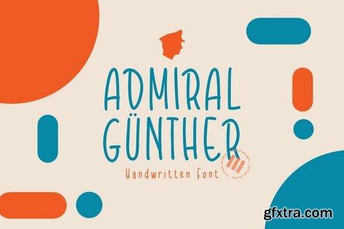 Admiral Günther - A Playful Monoline Font