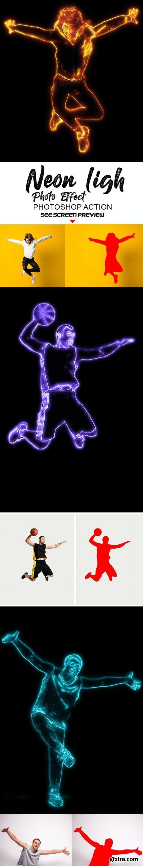 GraphicRiver - Neon light Photo Effect 26760628