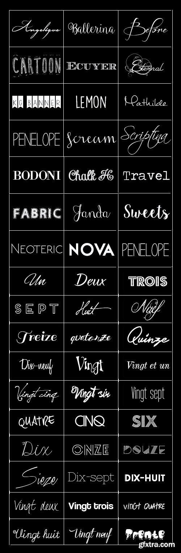Brilliant Font Pack - 50 Fonts