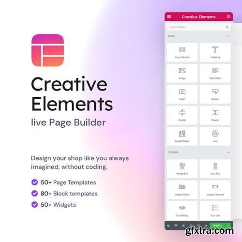 Creative Elements - live PageBuilder v2.5.6 - PrestaShop Module