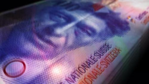 Videohive - Swiss Francs money counting seamless loop - 33546140 - 33546140