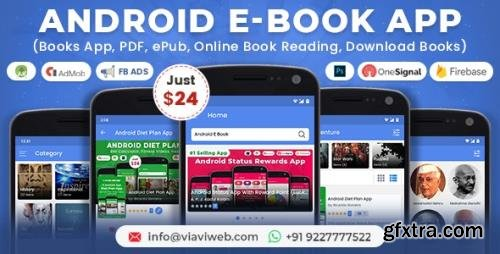 CodeCanyon - Android EBook App (Books App, PDF, ePub, Online Book Reading, Download Books) v11.0 - 21680614