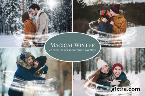 CreativeMarket - Magical Winter photo overlays 5460759