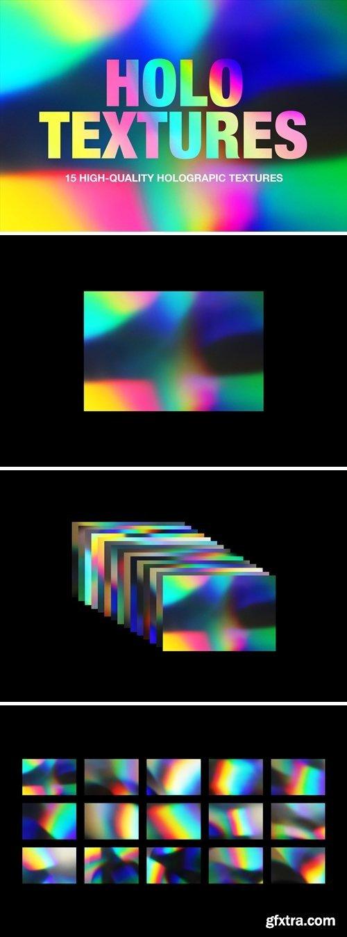 CreativeMarket - Holographic Foil Gradient Textures 4061718