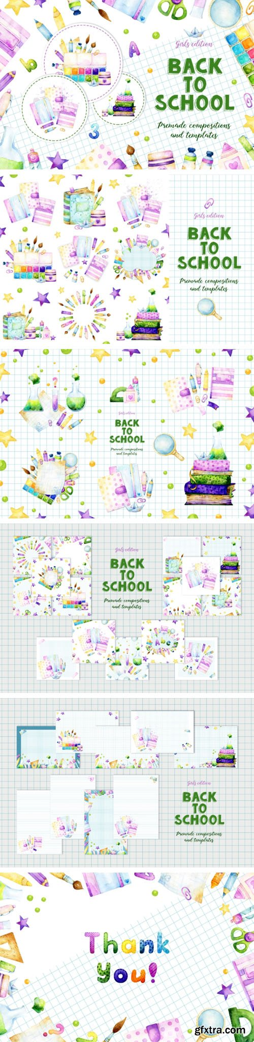 Back to School - Premade Compositions & Templates