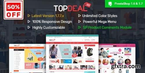ThemeForest - TopDeal v2.8.2 - Multipurpose Responsive PrestaShop 1.6 & 1.7 Theme - 19632422