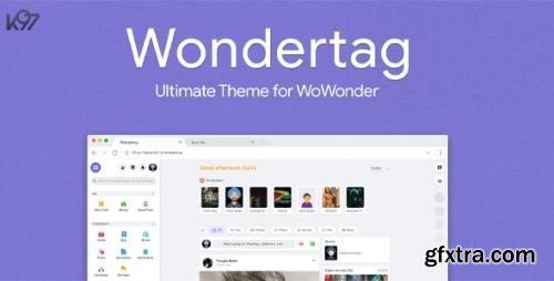 CodeCanyon - Wondertag v2.3.6 - The Ultimate WoWonder Theme - 28447452