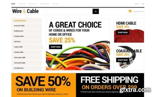 Cords and Wires v1.0 - Store OpenCart Template - TM 53404