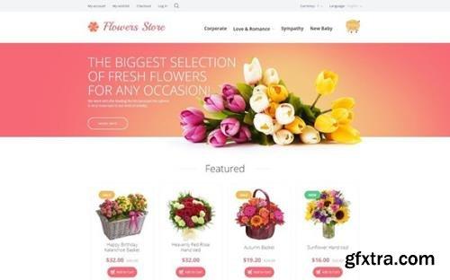 Flowers v1.0 - Store OpenCart Template - TM 55697