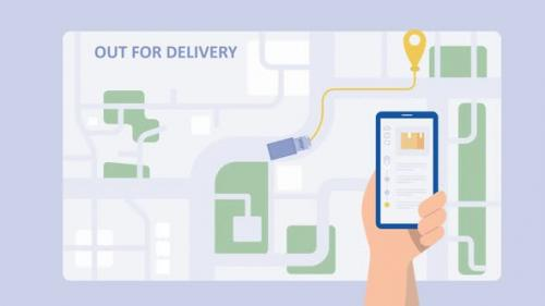 Videohive - Ecommerce package delivery process animation - 33617334 - 33617334
