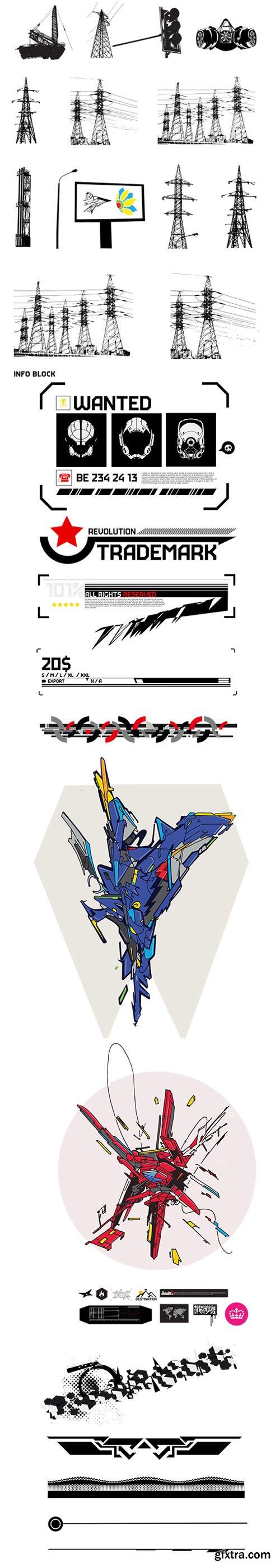 500 Badass Tech Vector Elements Pack