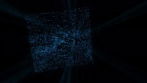 Videohive - blue hologram particle background - 33605468 - 33605468