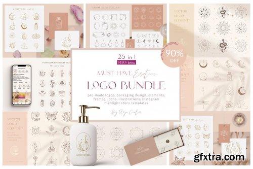 CreativeMarket - Logo Bundle ~ Mystic Designs 5595422