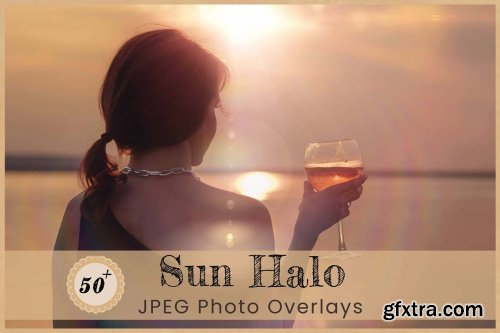 CreativeMarket - Sun Halo Photo Overlays Backdrops 6456751