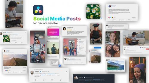 Videohive - Social Media Posts for Davinci Resolve - 33533285 - 33533285