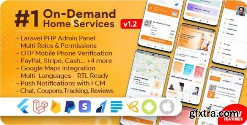 CodeCanyon - On-Demand Home Services, Business Listing, Handyman Booking with Admin Panel v1.2.1 - NULLED
