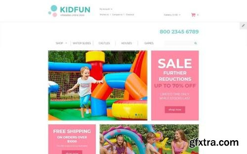 KidFun v1.0 - Kids Toys & Games Store OpenCart Template - TM 61366
