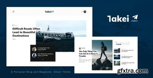 ThemeForest - Takei v1.0 - Blog and Magazine Ghost Theme - 33586999