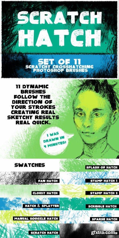 CM - Scratch Hatch Photoshop Brushes 400535