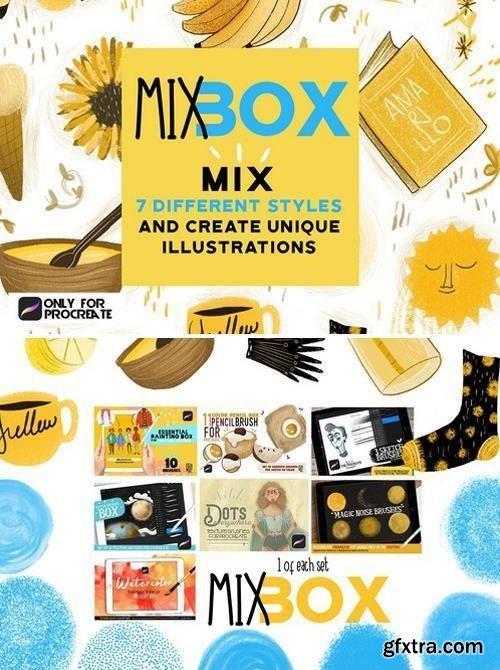 CM - Mix Box brushes for Procreate 2430845