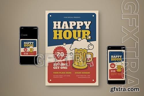 Happy Hour Flyer Set 9RKK6L9