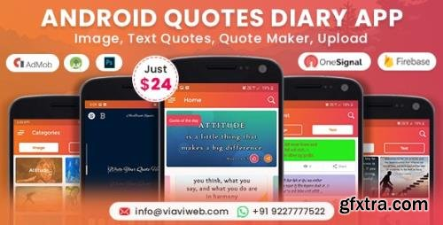 CodeCanyon - Android Quotes Diary (Image, Text Quotes, Quote Maker, Upload) v2.0 - 19248583
