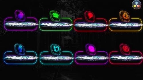 Videohive - Neon Social Media Lowerthirds - 33670127 - 33670127