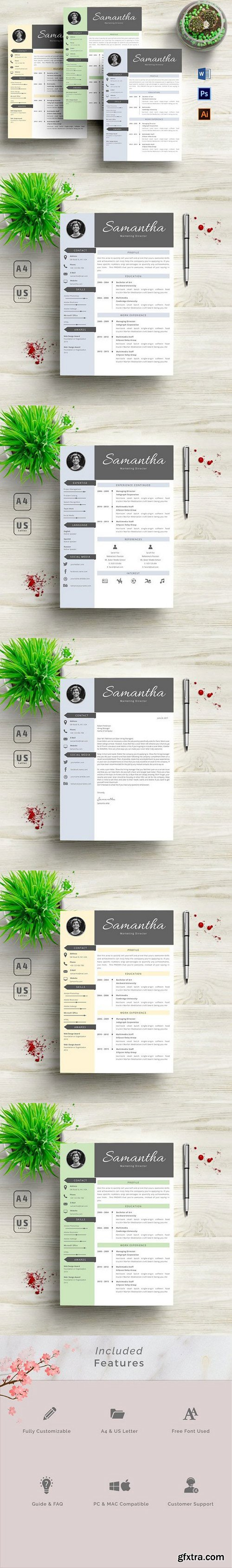 3 in 1 Resume Template