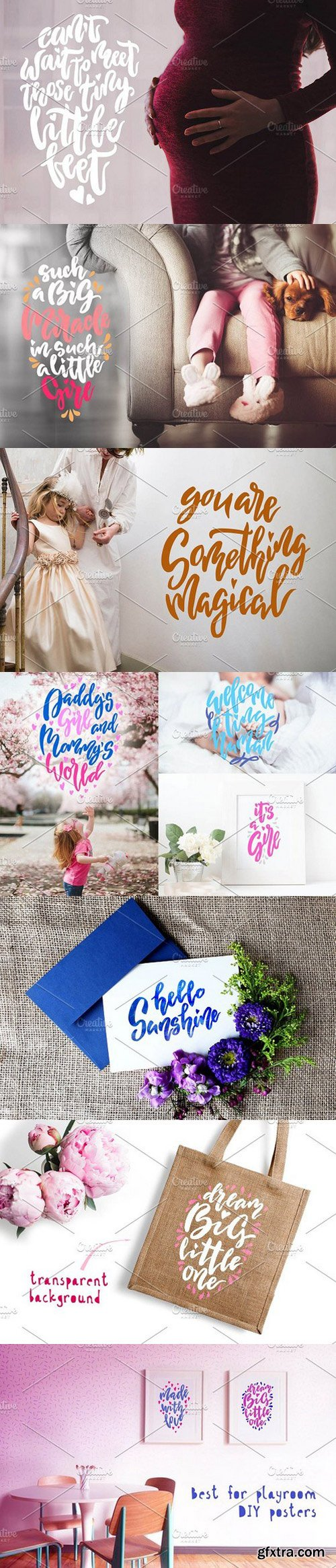 Baby Lettering Child photo overlays