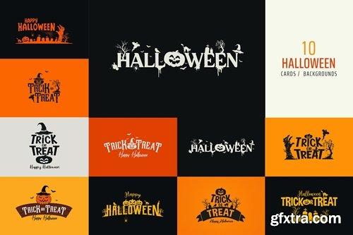 Halloween Logo / Card / Background
