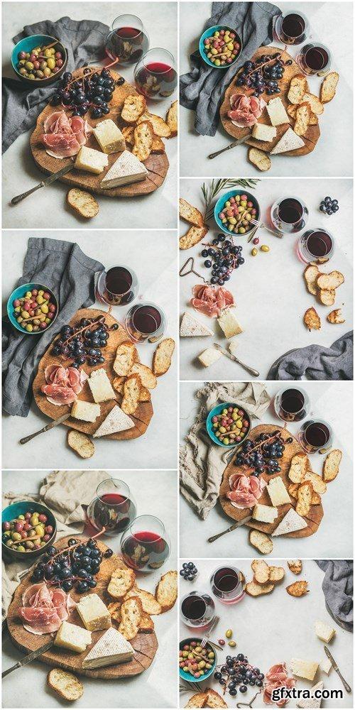 Wine and snack set - 7xHQ JPEG