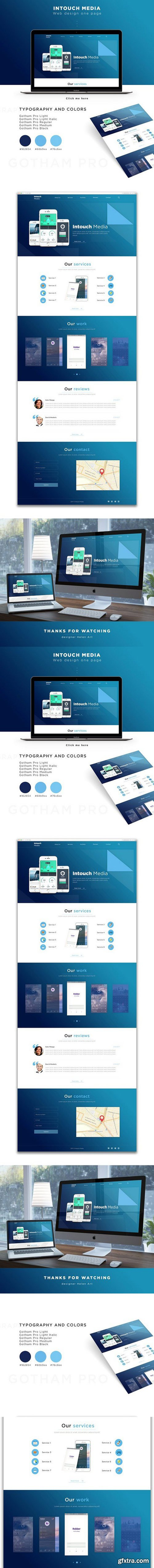 Intouch Media - Landing Page PSD