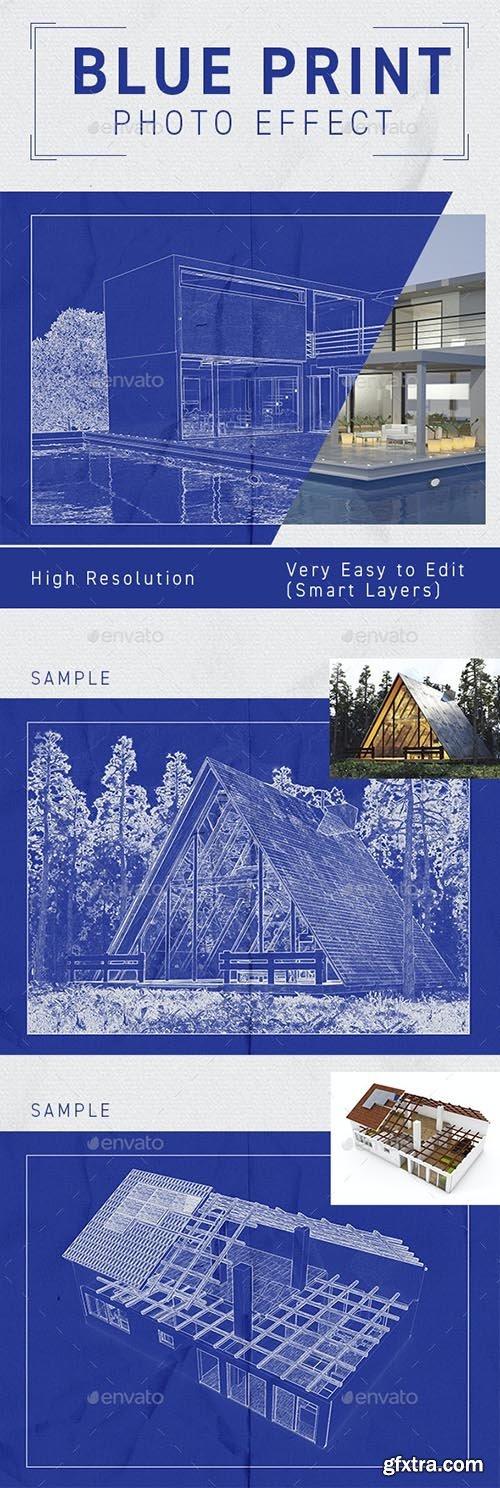 GraphicRiver - Architect Blueprint Photo Effect 33249812