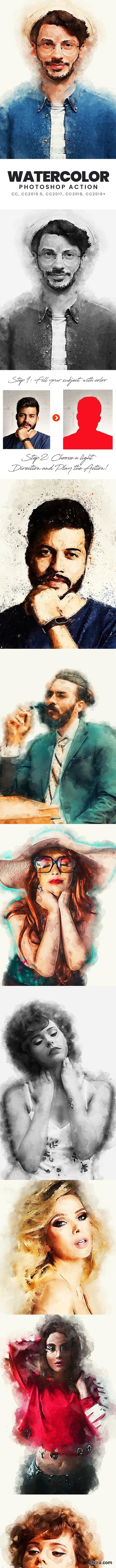 GraphicRiver - Watercolor Photoshop Action 33396288