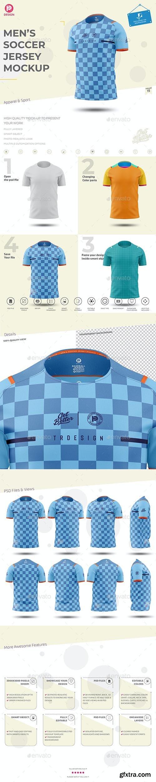GraphicRiver - Men's Soccer Jersey Mockup V15 33497023
