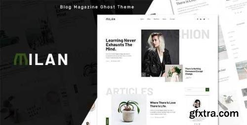 ThemeForest - Milan v1.0 - Blog and Magazine Ghost Theme - 33677475
