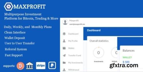 CodeCanyon - Max Profit v5.2 - Online Multipurpose Investment Platform - 26164846 - NULLED
