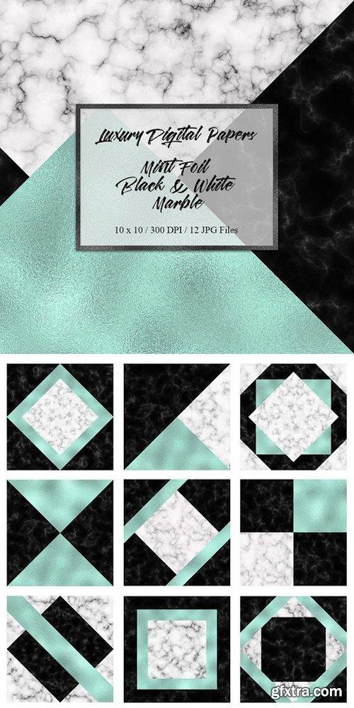 Mint Foil Marble