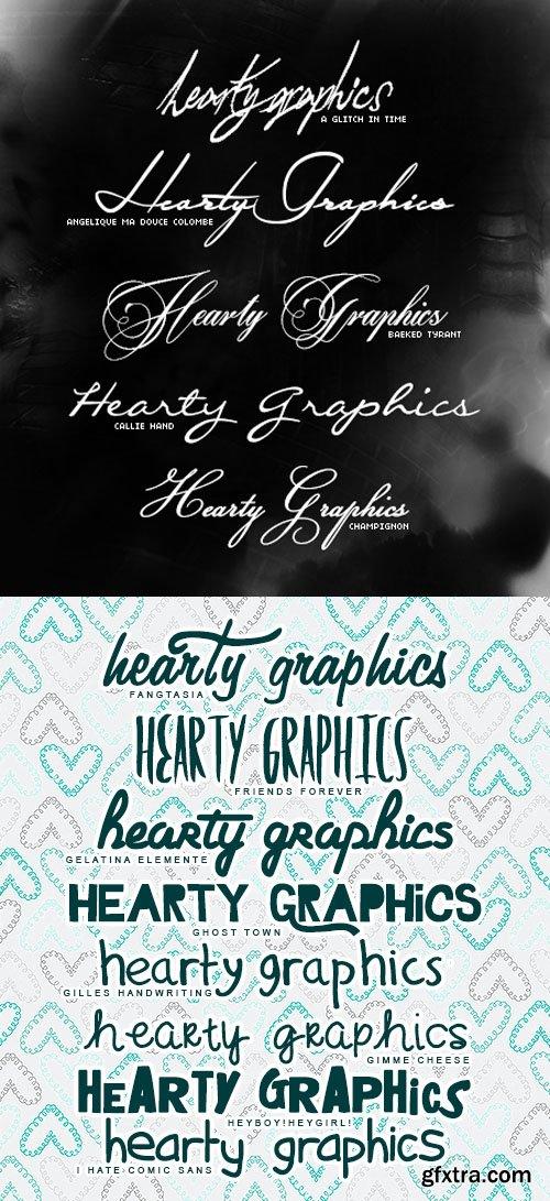 Cute Font Pack - 13 Fonts