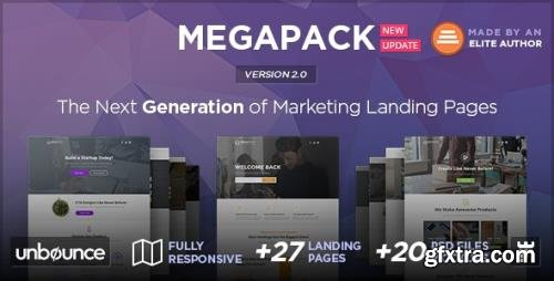 ThemeForest - MEGAPACK v2.0 - Multipurpose Unbounce Landing Pages Pack - 17443308