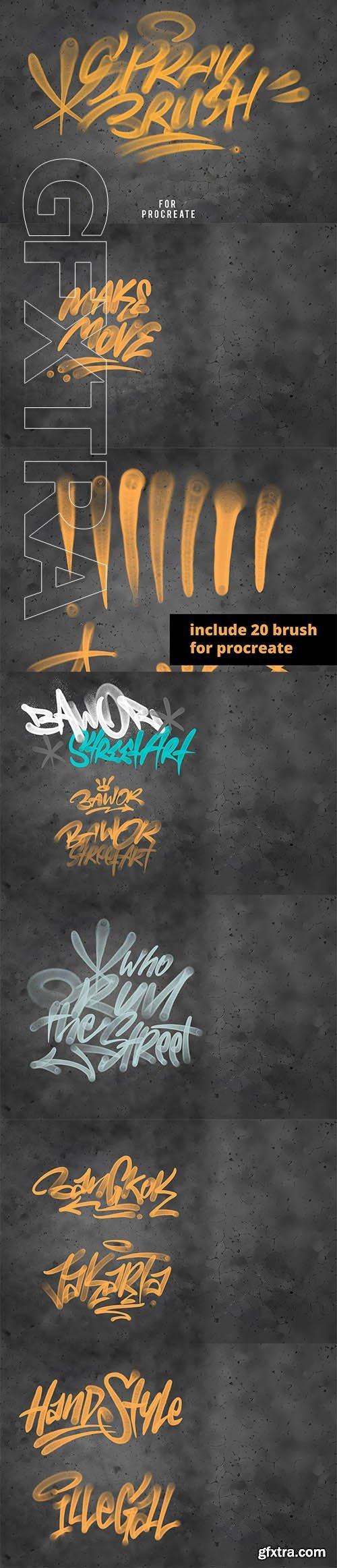 CreativeMarket - Procreate Graffiti Brush Set 3717940