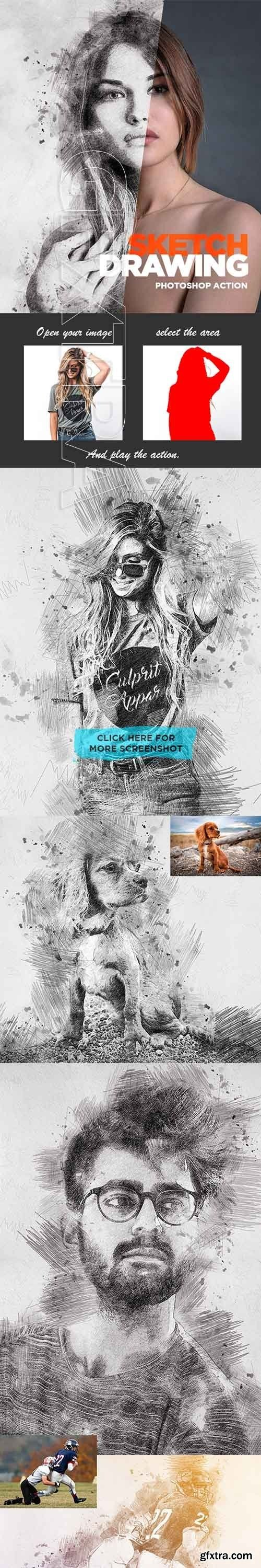 GraphicRiver - Sketch Drawing - Photoshop Action 22588545