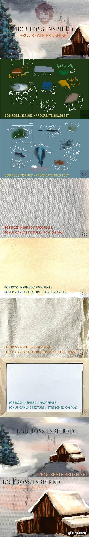 CreativeMarket - Bob Ross Inspired Procreate Brushes 3717628