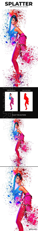 GraphicRiver - Splatter Art Photoshop Action 22499409