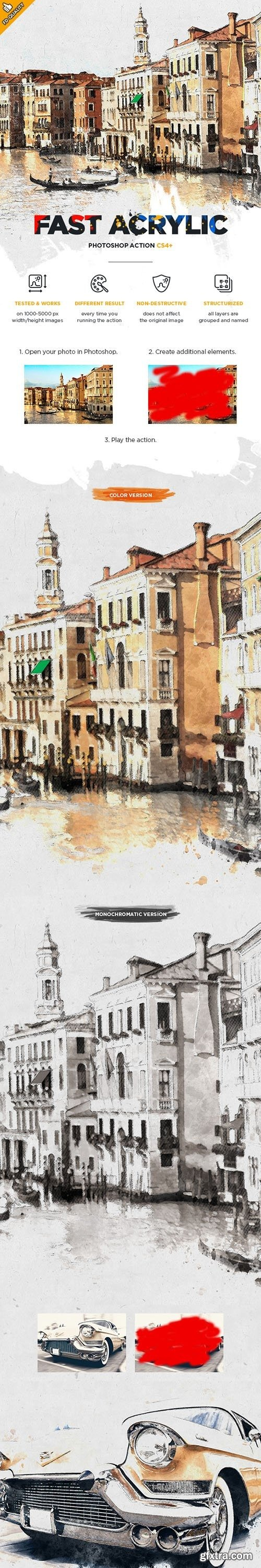 GraphicRiver - Fast Acrylic Sketch CS4+ Photoshop Action 22438094