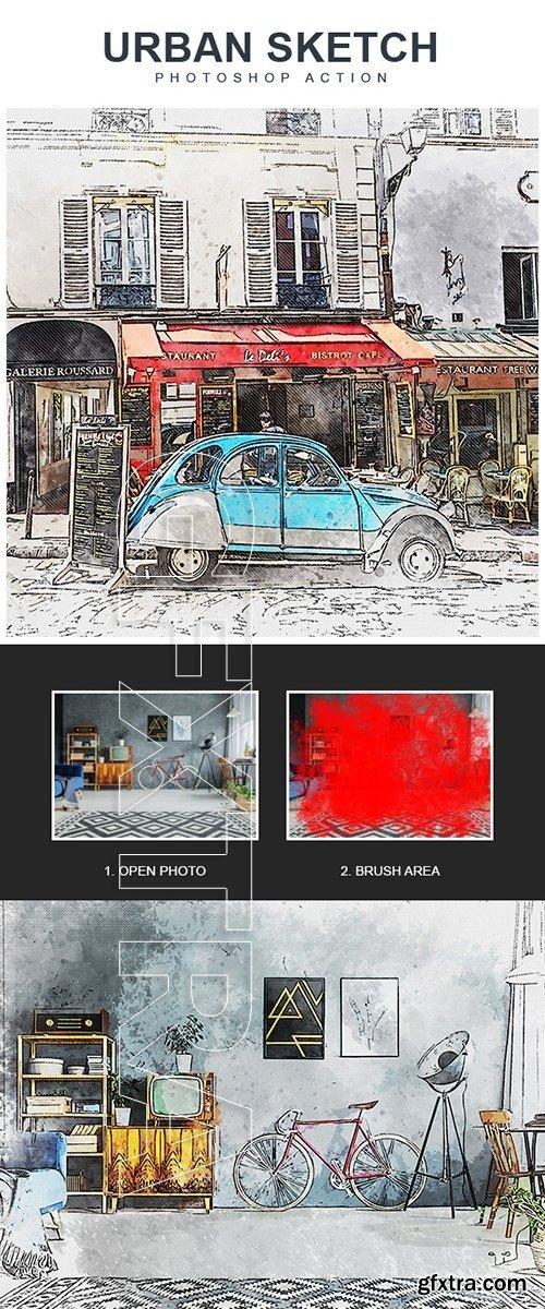 GraphicRiver - Urban Sketch - Photoshop Action 22430558