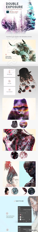 GraphicRiver - Double Exposure Photoshop Action 22430853