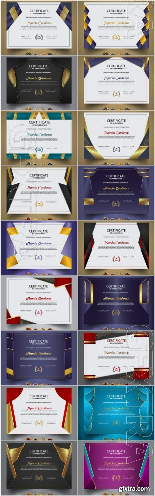 Premium certificate and vector diploma template