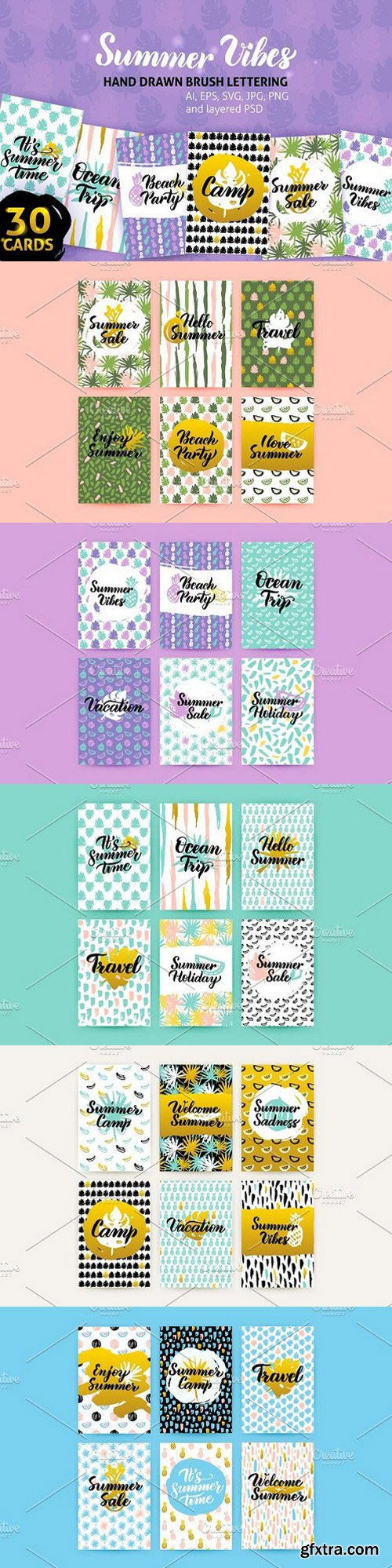 Summer Greeting Posters