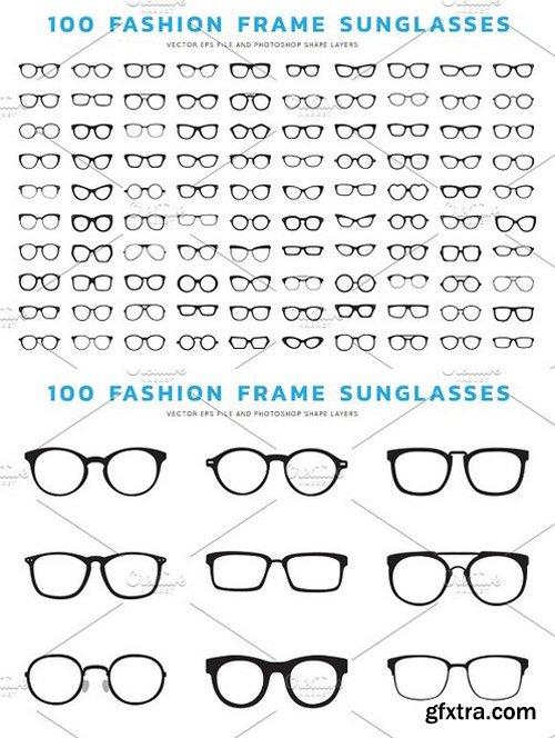 100 Frame Sunglasses Vector PSD
